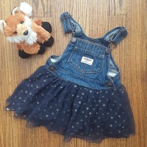 💙 Toddler OshKosh B'Gosh Denim Overalls Dress